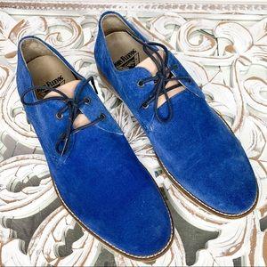 John Fluevog Blue Suede Men's Shoes Size 11